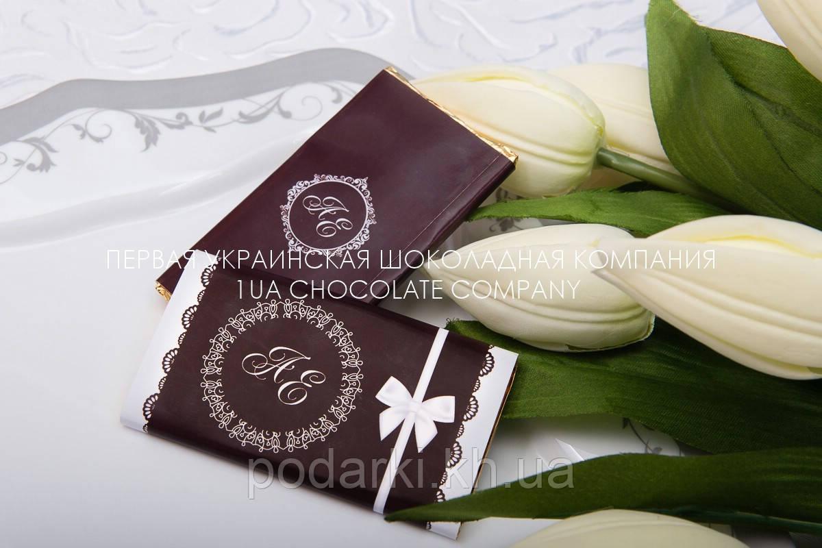 Стильные комплименты гостям на свадьбе из шоколада