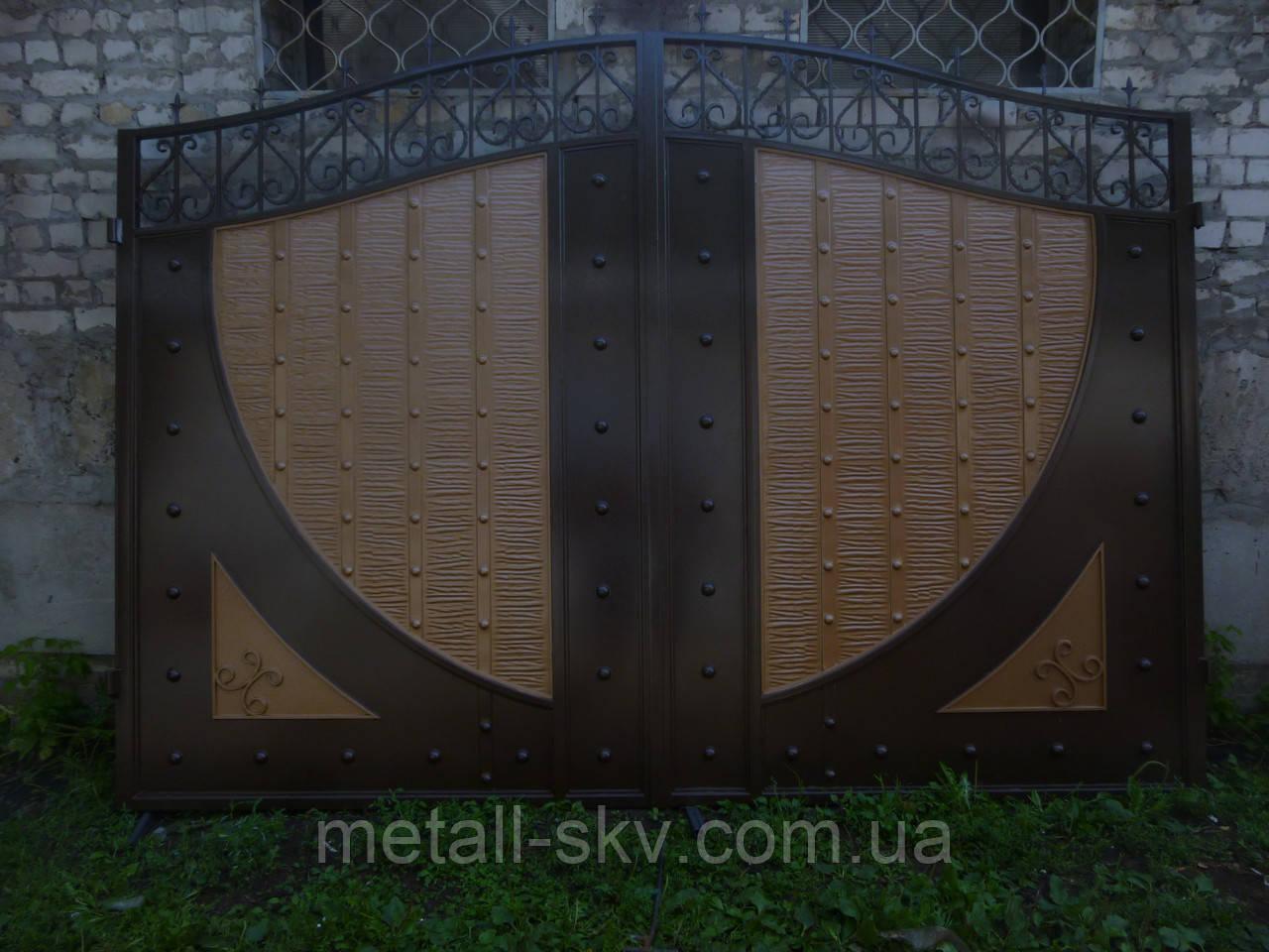 Ворота жатые металлические Руно