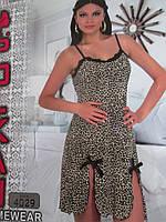 Трикотажные ночнушки с леопардовой расцветкой, фото 1