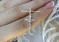 Дитячий срібний хрестик, фото 1