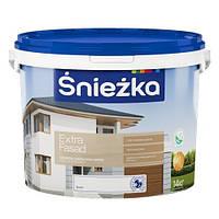 Акриловая эмульсионная фасадная краска Śnieżka Extra Fasad (Снежка Экстра Фасад) 1,4 кг
