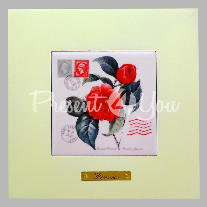 Панно настенное «Прованс. Роза», 10х10, 18х18 см.