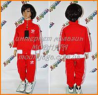 Детский костюм адидас красный воротник стойка