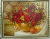 «Натюрморт с калиной» картина маслом