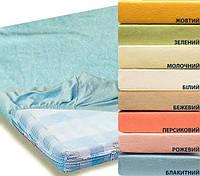 Простынь махровая на резинке 200х200см разные цвета Zastelli