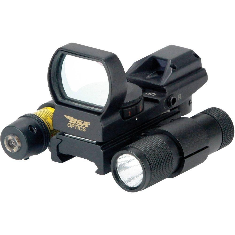 Коліматорний приціл BSA-Optics Panoramic PMRGSLL + ліхтар та ЛЦУ