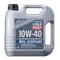 Полусинтетическое моторное масло Liqui Moly MoS2 Leichtlauf 10W-40 4л + 1л в ПОДАРОК