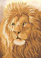 Схема для вышивки бисером животные. Лев РКП-492
