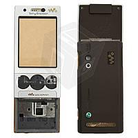 Корпус для Sony Ericsson W715 - оригинал (серебристый)