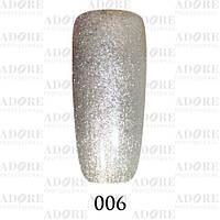 Гель-лак Adore Professional № 006 (серебрянный хром), 9 мл ADR 006/96