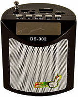 Мини портативная MP3 колонка радио USB FM DS-002BL