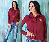 """Женская рубашка """"Polo"""" марсала OS-92"""