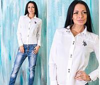 "Женская рубашка ""Polo"" белая OS-93"