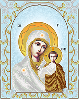 Казанская Икона Божией Матери (серебро) АС3-031