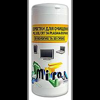 Mira mc2211 Салфетки для экранов 50шт влажных 50 сухих (mc2211)