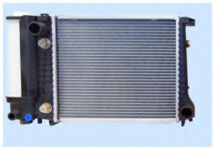 Радиатор охлаждения BMW 3 E30 1987-1991 (1.6 1.8 АКП АС-) 380*330мм по сотах KEMP