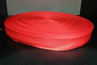 Тесьма лента ременная 25мм 900D (100м) красный