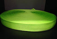 Тесьма лента ременная 25мм 900D (100м) салатовый