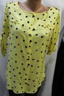 Блузка рубашка женская производство Турция сердечки
