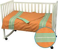 """Комплект постельного белья в детскую кроватку Веселий горошек ТМ """"Руно"""", фото 1"""