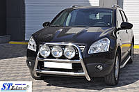 Nissan Qashqai 2007-2010 гг. Кенгурятник WT018 (нерж.)