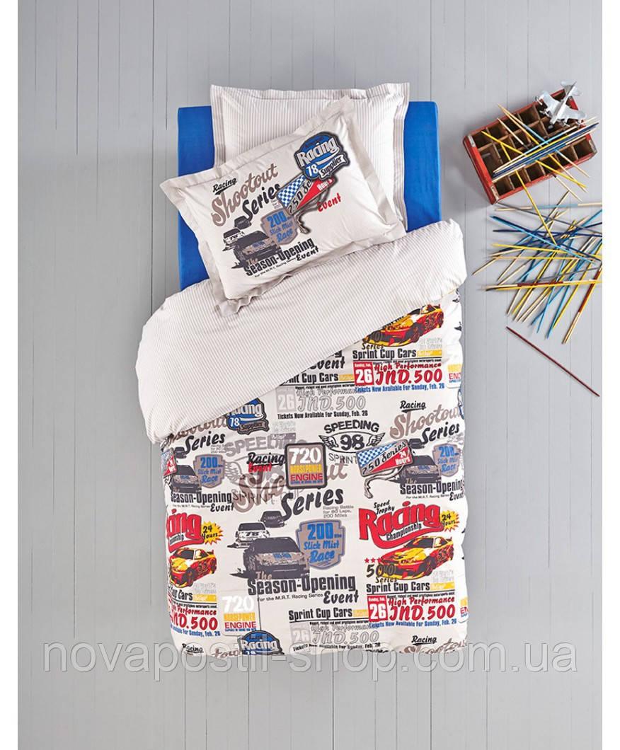 Комплект постельного белья KARACA HOМЕ RACING CAR синий