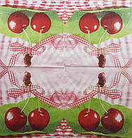 "Салфетка декупажная 33x33см 22 ""Спелые вишни"" (товар при заказе от 200 грн)"