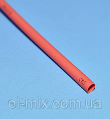 Трубка термоусадочна D3.0/d1.50 червона L-1м VW-1 NAR0255