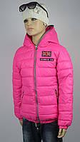 Куртка для девочек 4-10 лет, 18-50 delfin-free девочка, розовый, фото 1