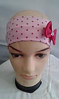 Модная трикотажная повязка на голову для девочки не дорого