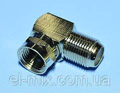 Переходник штекер F — гнездо F металл угловой CU  ZLA2561