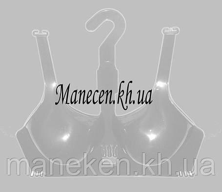 Манекен полуобъемный женский подвесной р42-44 бюст с лямкой прозрачный, фото 2