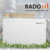 Радиатор стальной панельный RADO 22 500х400 (нижнее подключение)