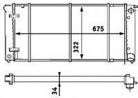 Радиатор VW Golf 2 83-91 1.6TD1.8 16V Toledo1.8,2.0,1.9TDI 675*323 191121251F