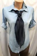 Блузка рубашка женская Турция джинсовая