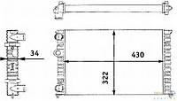 Радиатор VW Golf-3 92-99 1,4 430*322 6N0121253A