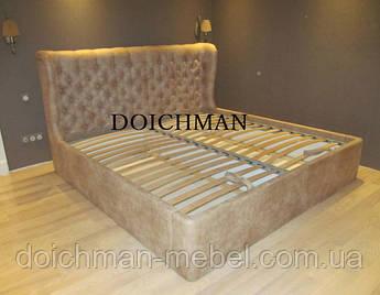 """Дизайнерская кровать с мягкой спинкой """"Stiv"""""""