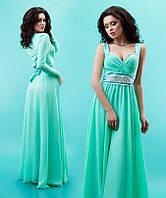 Элегантное женское вечернее платье в пол с болеро, шифоновое. Разные цвета
