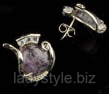 комплект украшений из аметиста купить, подобрать талисман из натурального камня