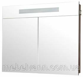 Шкаф-зеркало с подсветкой 80 см Венге