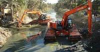 Выкопать пруд экскаватором, драглайном, земснорядом