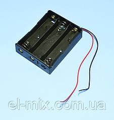 Відсік для батарей 18650*3шт, контакт-пружина, Китай