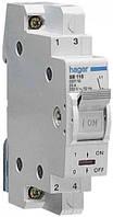 Выключатель нагрузки I-0 230В~/16А, 1-полюсный, 1м SB116