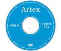 DVD-R и DVD+R диски ARTEX емкостью 4.7Gb(120 минут)