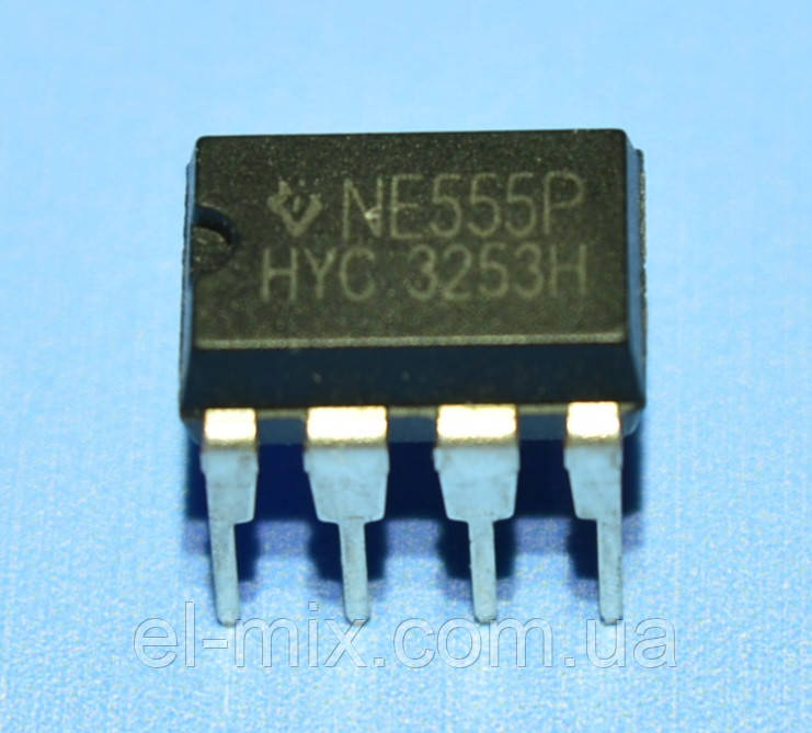 Микросхема NE555P  dip8  TI/China
