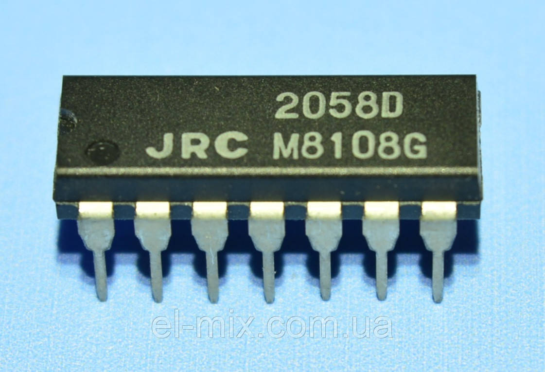 Микросхема NJM2058D  DIP-14  JRC