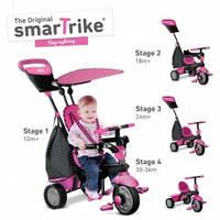 Трехколесный велосипед Smart Trike Glow 4 в 1, цвет розовый