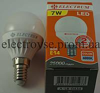 Лампа Led Е-14 7W 4000К (шарик)