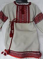 Платье вышитое для девочки с пояском