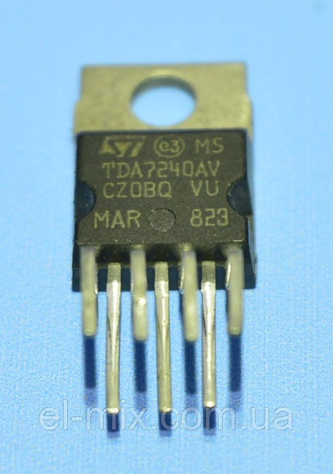 Микросхема TDA7240AV  TO220-7  STM